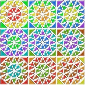 Faux Glass Rainbow Tiles