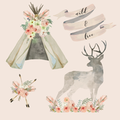 Wild and Free Mauve | Woodland Watercolor