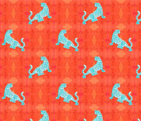 Blue Tigers fabric by brainsarepretty on Spoonflower - custom fabric