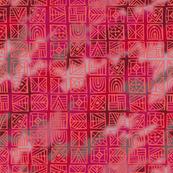 Orange Geometric Batik