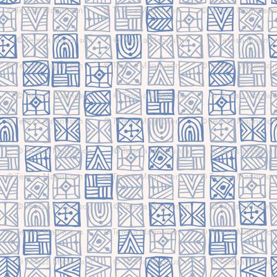 Blue Geometric Tribal