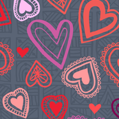 Hearts Geometric Valentine