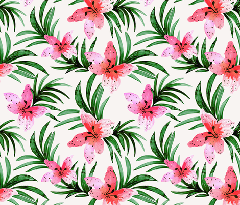 Lily Pink fabric by crystal_walen on Spoonflower - custom fabric