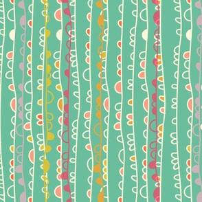Loopy Grass Jade & Pastels