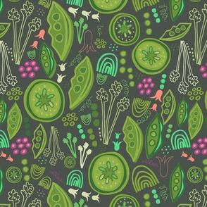 Greenery Cucumber Peas Salad