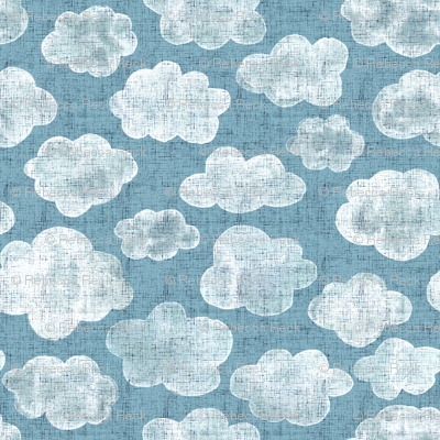 Cloudy sky, watercolor clouds