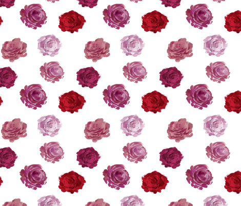 roses fabric by meissa on Spoonflower - custom fabric