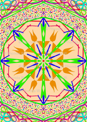 Starry Compass Scatter on Speckled Cantaloupe - Medium Scale