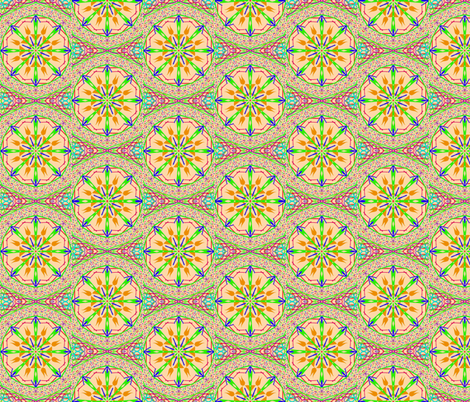 Starry Compass Scatter on Speckled Cantaloupe - Medium Scale fabric by rhondadesigns on Spoonflower - custom fabric