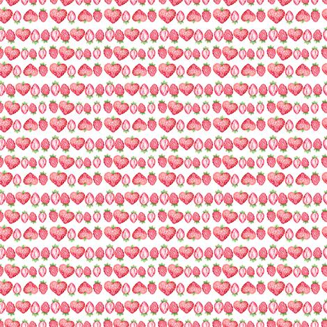 Heart shaped strawberry  fabric by kotyplastic on Spoonflower - custom fabric