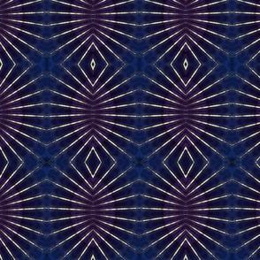 dark blue geometric print