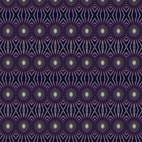 dark blue geometric print