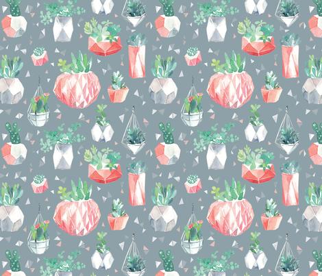 Geometric Planters fabric by ohn_mar_win on Spoonflower - custom fabric