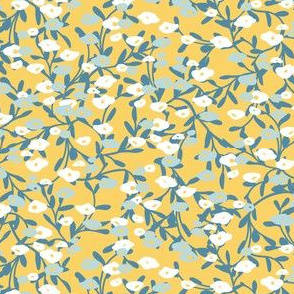 flower patch in yellow