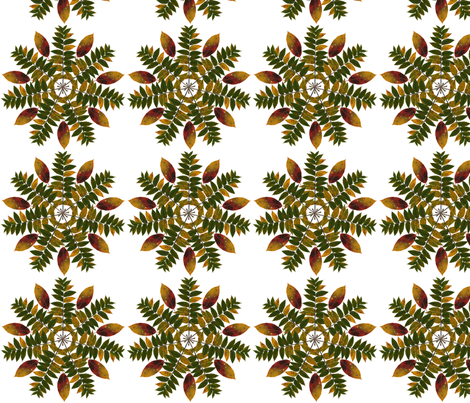 walnut_and_persimmon_mandala_3 fabric by leroyj on Spoonflower - custom fabric