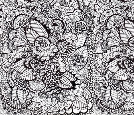 mandala_design407-ed fabric by dollydimpledesigns on Spoonflower - custom fabric