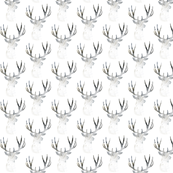 Deer Silhouette Small White | Woodland Watercolor