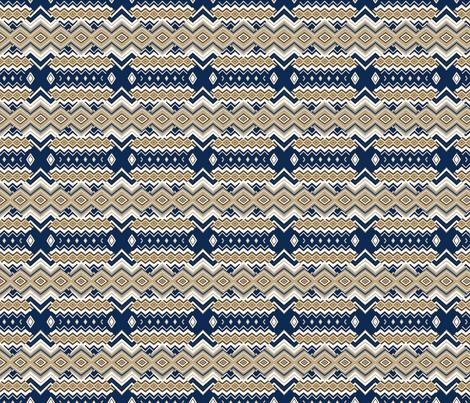 Small Navy ziggy fabric by twigsandblossoms on Spoonflower - custom fabric