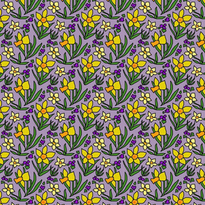 daffodils_and_violets