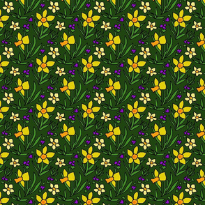 daffodils_and_violets_green