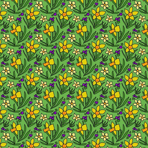 daffodils_and_violets_green_light