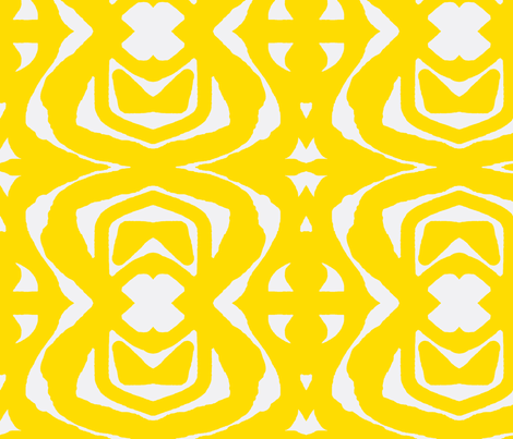 Yellow Paper Cutout fabric by robin_rice on Spoonflower - custom fabric