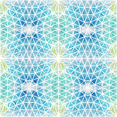 geodesic watercolour whirls