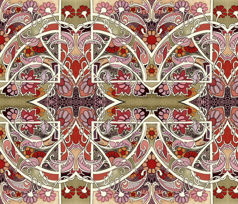 Paisley Love Mandala fabric by edsel2084 on Spoonflower - custom fabric