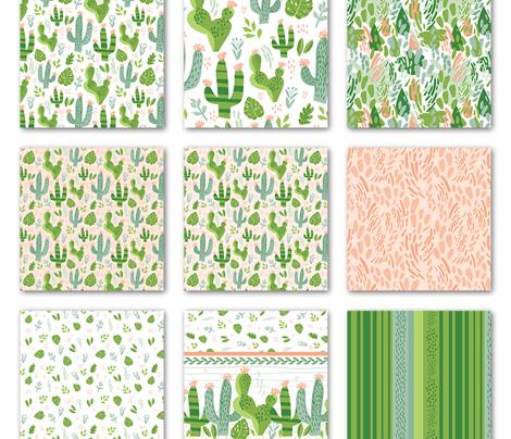 Cacti Mix Border Print