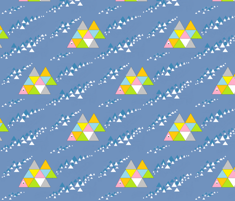 Swimming Fish fabric by palusalu on Spoonflower - custom fabric