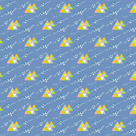 Swimming Fish fabric by palusalu on Spoonflower - custom fabric