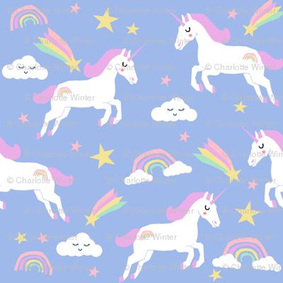 pastel unicorn fabric cute girls unicorns