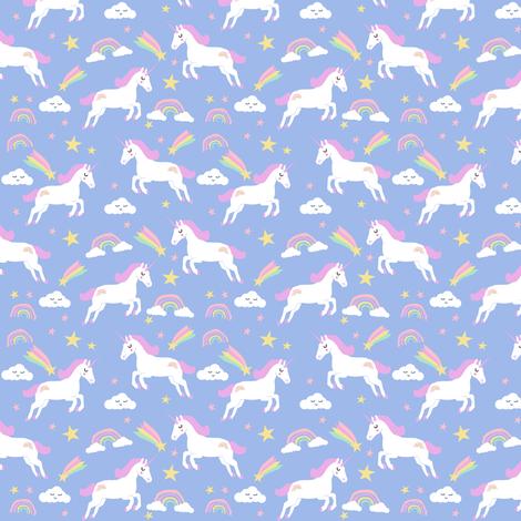 pastel unicorn fabric cute girls unicorns fabric by charlottewinter on Spoonflower - custom fabric