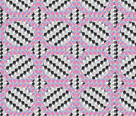 Geodasic Crazy fabric by gracelillydesigns on Spoonflower - custom fabric