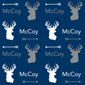 custom name deer head fabric