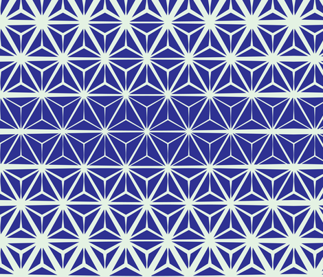 Blue-Geodesic fabric by aimeelouiseillustration on Spoonflower - custom fabric