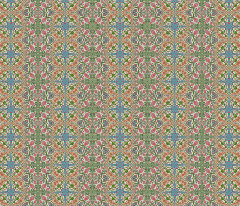 Kaleidoscope flowers fabric by northbloom on Spoonflower - custom fabric