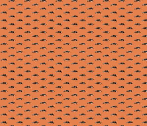 Anteater Orange fabric by wren_2_0 on Spoonflower - custom fabric