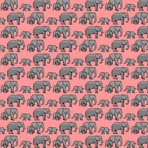 Elephant Family Pink
