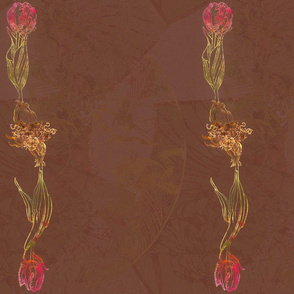 Birthday Tulips Collection-brown-border