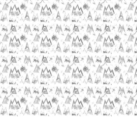 Watercolor Mountains fabric by boeyemadore on Spoonflower - custom fabric