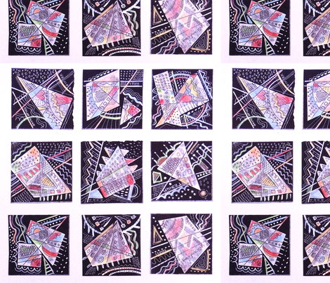 Playful Geometry fabric by zoopsia on Spoonflower - custom fabric