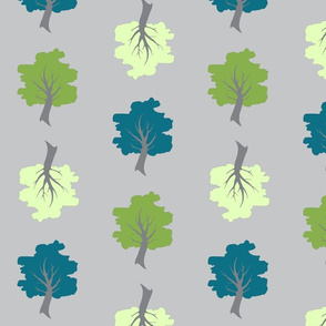 Sweet Trees on Grey - multi direction