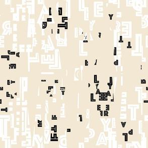 letter play - wordy black/white/creme