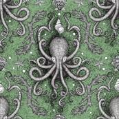 Octopus-Damask - Sea Foam