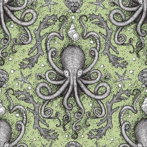 Octopus-Damask - Lt. Green