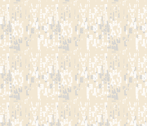letter play - wordy white/grey/creme fabric by cinneworthington on Spoonflower - custom fabric