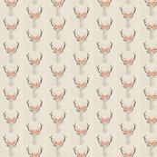 Deer Antlers Flowers Small Linen | Woodland Watercolor