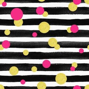 Black_stripes_polka_dots_fabric