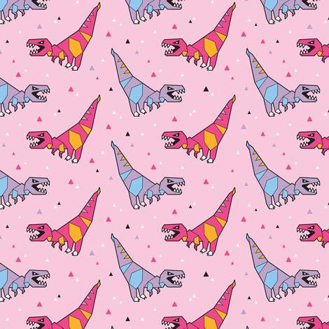 Paper dinosaurs fabric by penguinhouse on Spoonflower - custom fabric